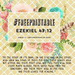 Free Printable Autumn Theme Ezekiel 47:12