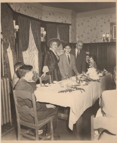 My father's bar mitzvah party
