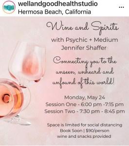 Wine & Spirits with Jennifer Shaffer @ Well and Good Health Studio @ Well+Good Health Studio