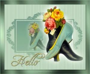 Vintage shoes & flowers