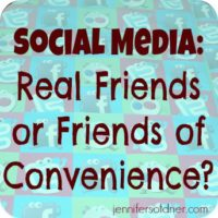 Social Media: Real Friends or Friends of Convenience?