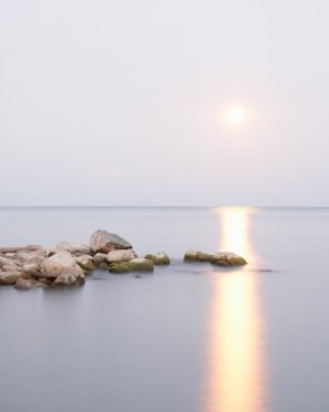 Moon Photography - Lake Erie #5, Moonrise