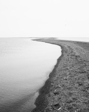 Walking Meditation - Black and White Seascape Photograph