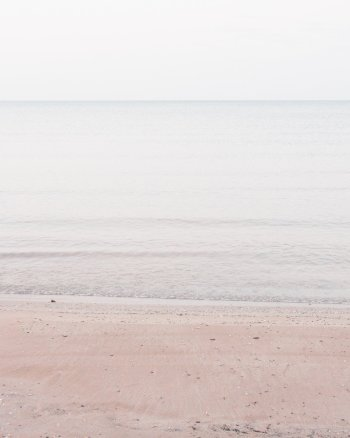 Pale Coastal Wall Decor - Lake Huron #3 - Minimalist Beach Art