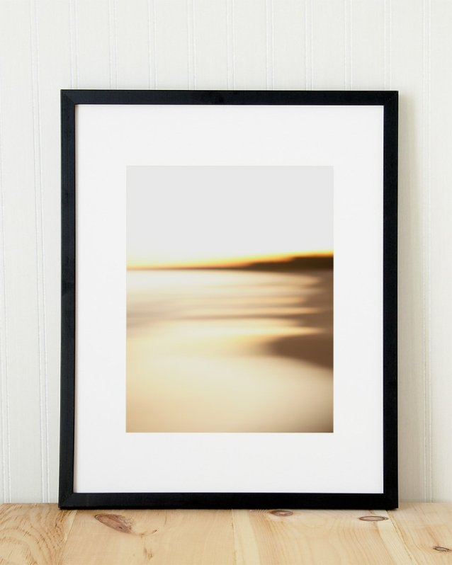 Abstract Beach Art - Steamy - Black Frame