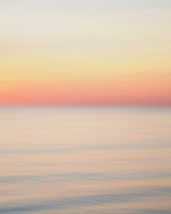 Pastel Orange Sunset Picture - Adrift and In Love