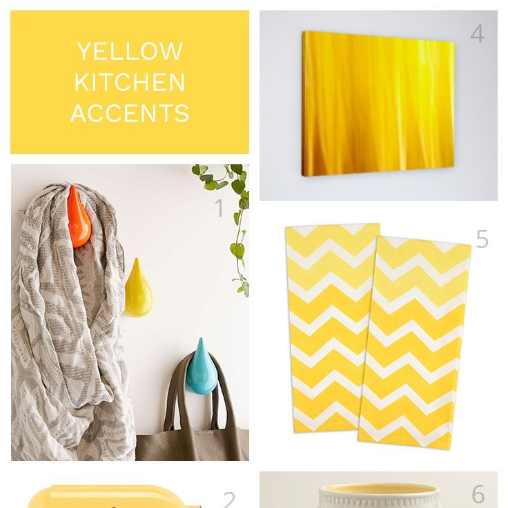 excellent white kitchen yellow accents | Yellow Kitchen Accents for Your Modern Coastal Home