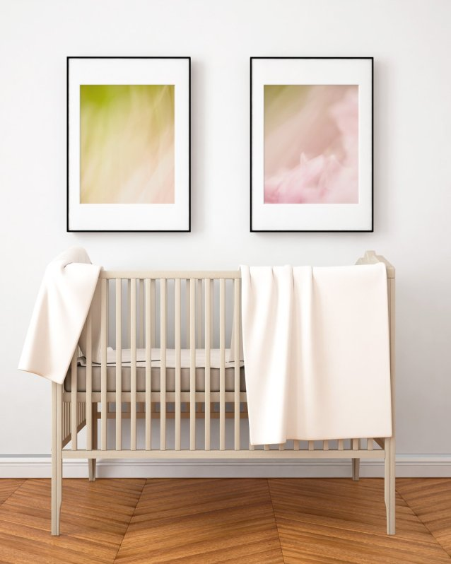 Modern Nursery Wall Decor // Hailey + Emily // Jennifer Squires