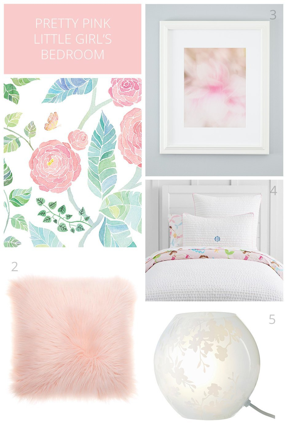 Teenage Rooms: Pretty Pink And White Accents