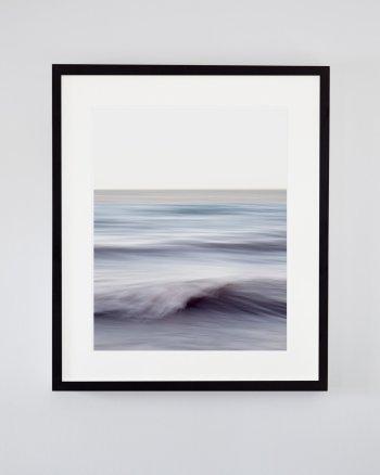 Ocean Wall Art - Chantal Strolls Along the Shore - Soothing Blue Waves