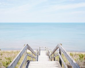 Pinery Steps Beach #1 Horizontal - Ontario Beach Decor