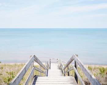 Pinery Steps Beach #1 Horizontal - Ontario Beach Decor