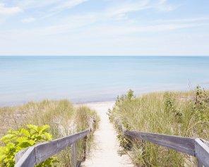 Pinery Steps Beach #2 Horizontal - Pinery Lake Huron Beach Print