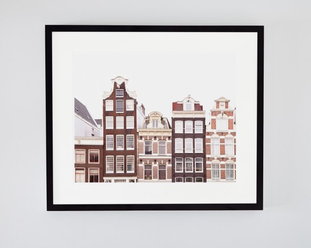 Bloemenmarkt Canal Houses - Framed Amsterdam Canal Houses Photo