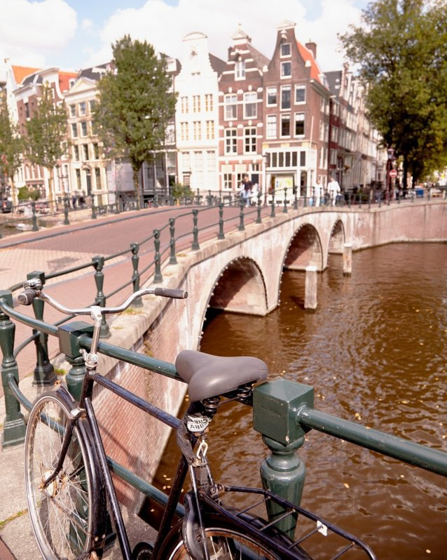 Ryan Rode Into Town - Amsterdam Photo with Bicycle