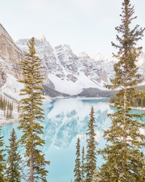 Captivating Quiet - Moraine Lake Print by Jennifer Squires