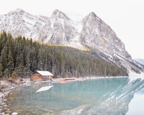The Boathouse at Lake Louise, Horizontal - Lake Louise Photo