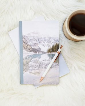 The Mountains Whispered Good Morning Notebook