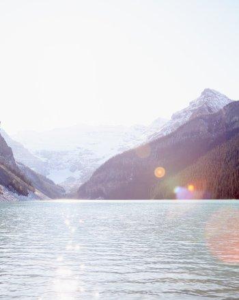 Summer's Final Glimpse - Lake Louise Landscape Photography Print