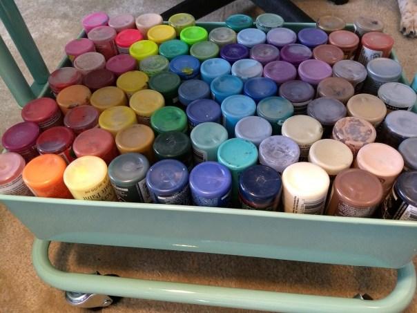 art journal supplies, paint