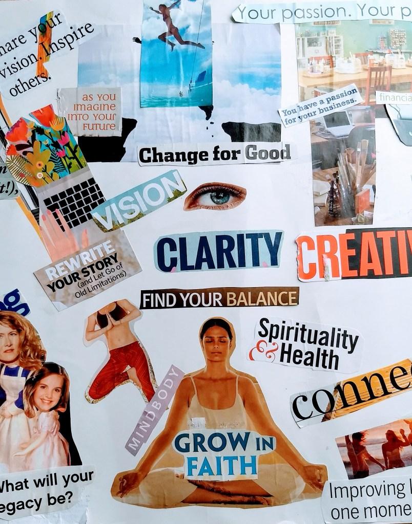 vision board art journal page start an art journal inspirational collage