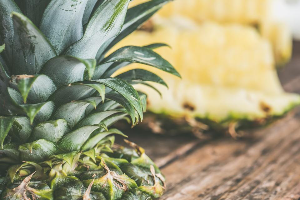 pineapple, cut and whole. Blueberry-Pineapple Green Iced Tea