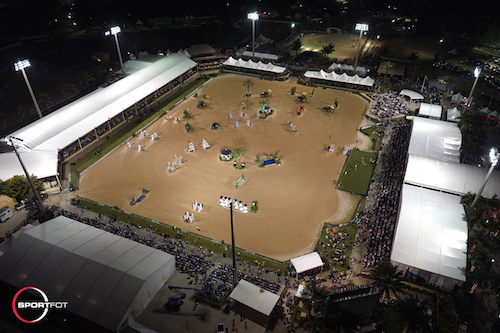 It was a packed house on Saturday night as the circuit's top horses and riders contested the $500,000 Rolex Grand Prix CSI 5*.