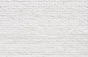painted white brick wall