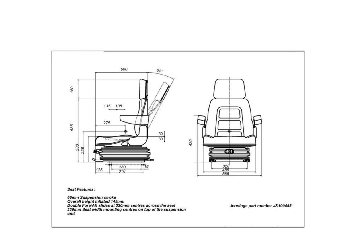 Js 12 Volt Air Suspension Seat