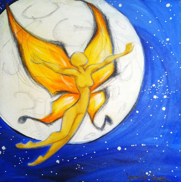 Moon Fairy painting | jenn mcmenemy
