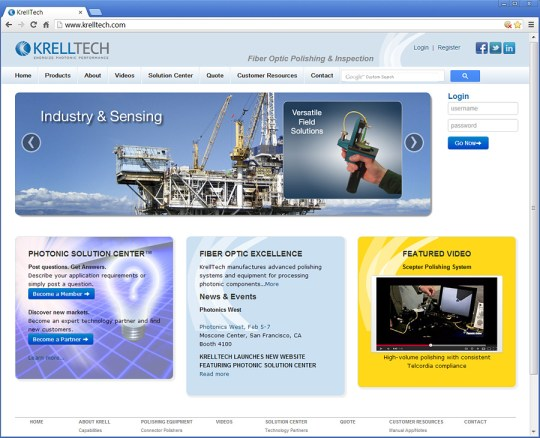 Krell Tech website design