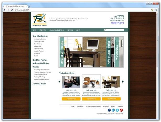 R-Squared website redesign