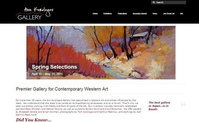 Ann Korologos Gallery website