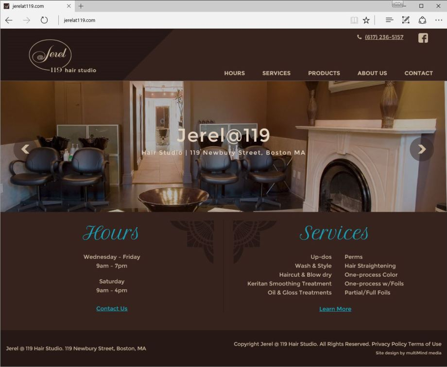 Jerel 119 Website Design