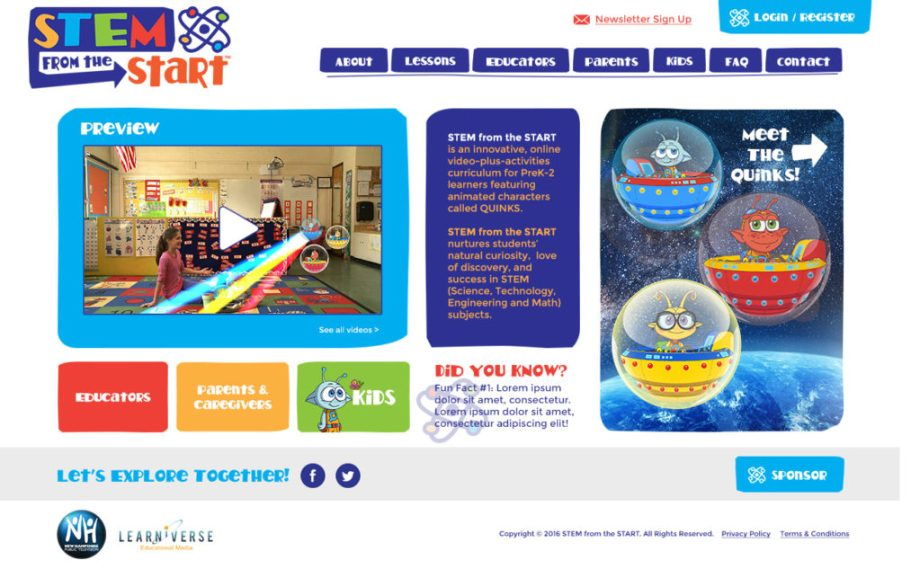 STEM from the Start website design