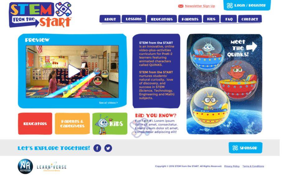 STEM from the Start website design