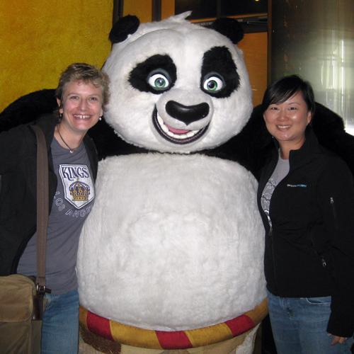 Jenn, Ling, and the Kung Fu Panda