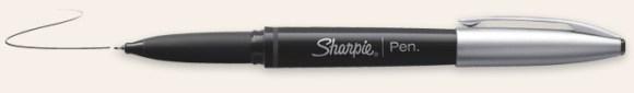 Sharpie fine grip pen, black.