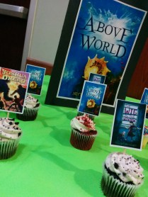 A great author event with mini cupcakes.