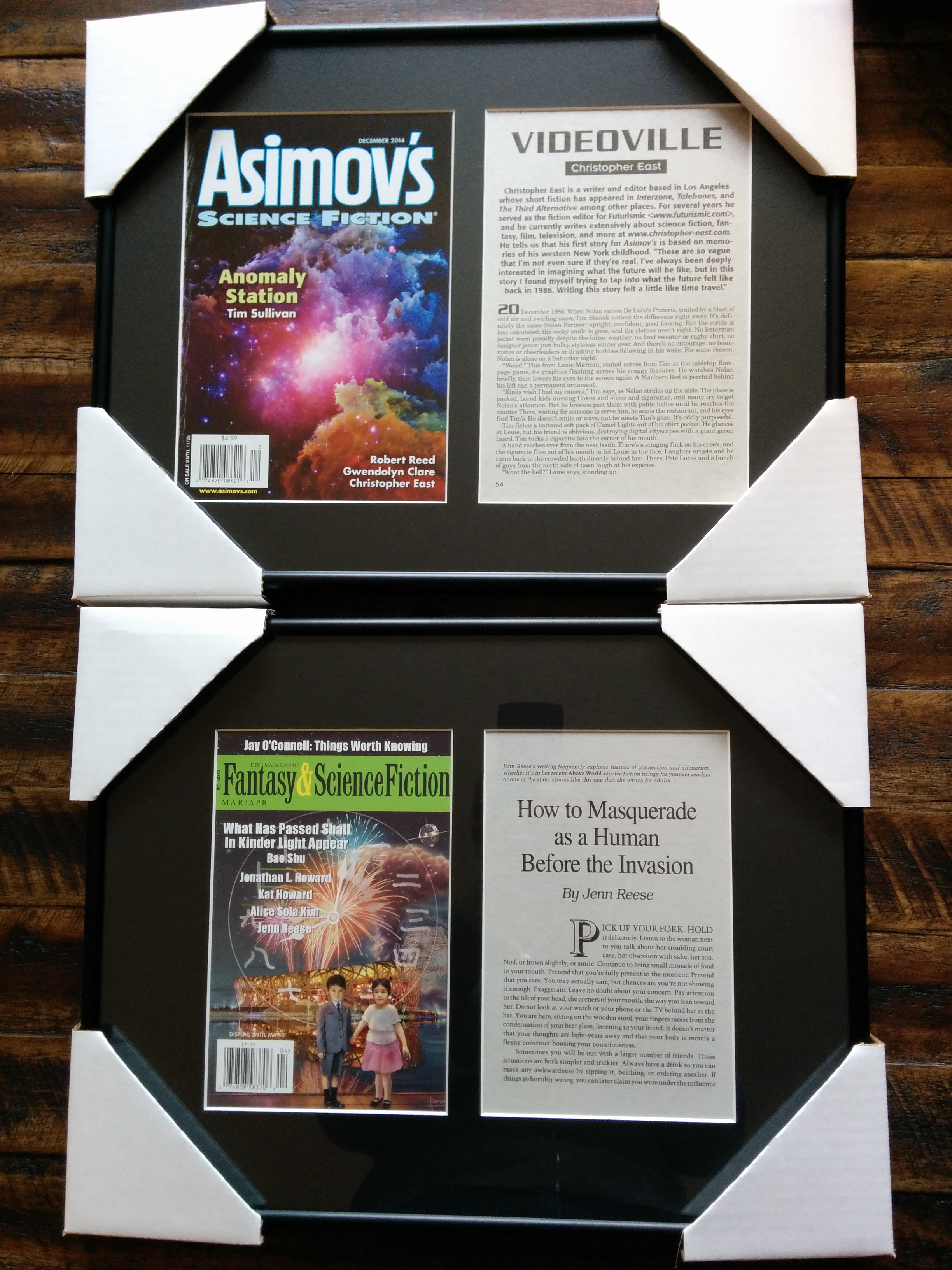 F&SF, Asimov's, and Milestones