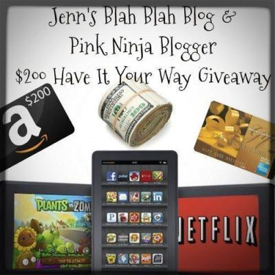 Free Blogger Opp – Have It Your Way Giveaway