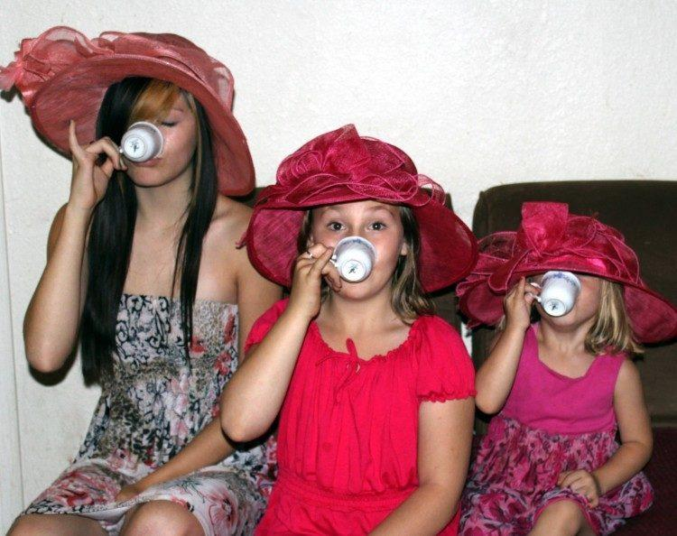Girls Drinking Tea