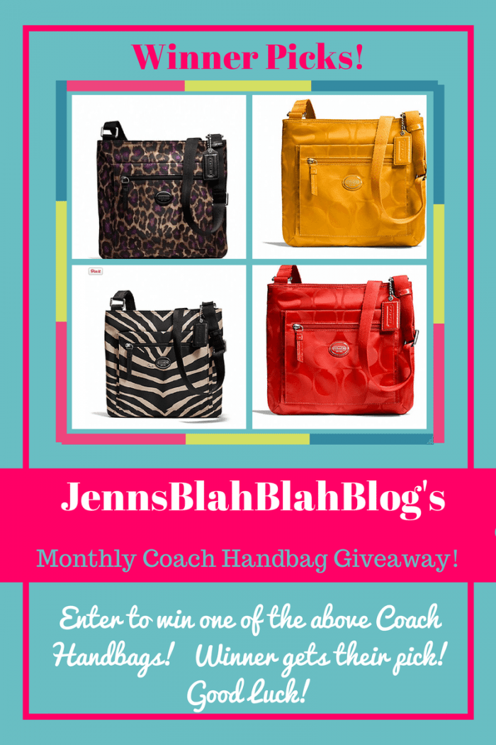 coach handbag giveaway https://jennsblahblahblog.com