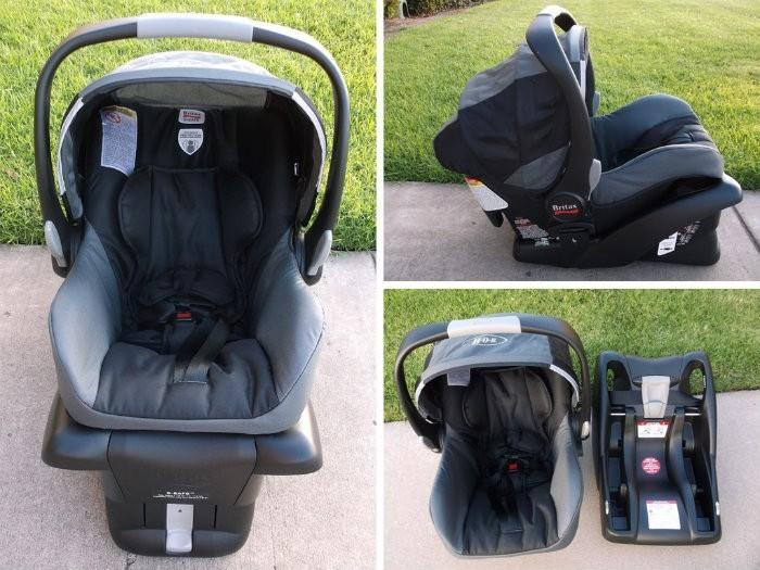 baby is riding in style with the bob b safe infant car seat by britax. Black Bedroom Furniture Sets. Home Design Ideas