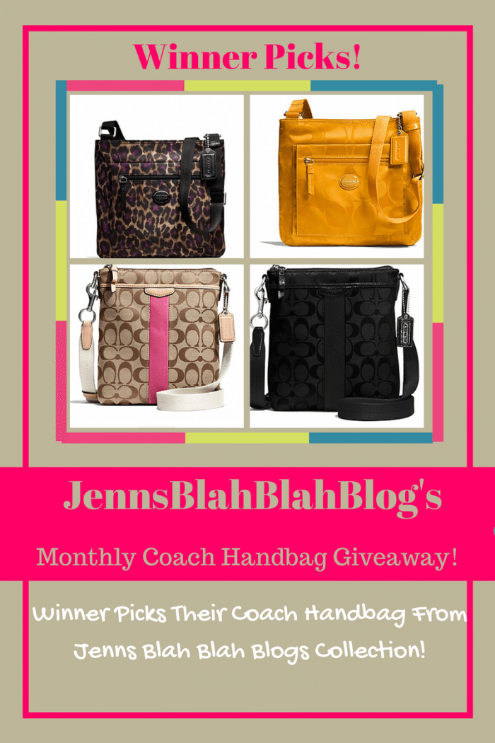 Monthly Coach Handbag Giveaway
