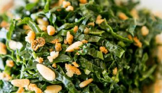 Salad Recipes | Kale Salad with Date Puree & Pine Nuts Recipe