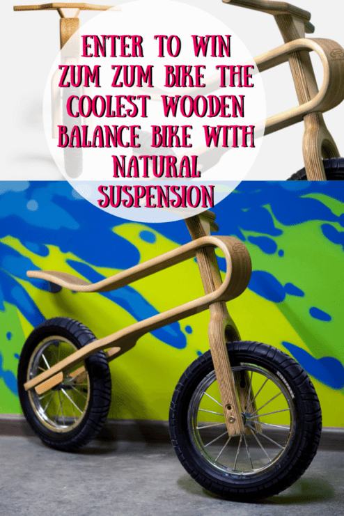 Enter To Win Zum Zum Bike The Coolest Wooden Balance Bike with Natural Suspension