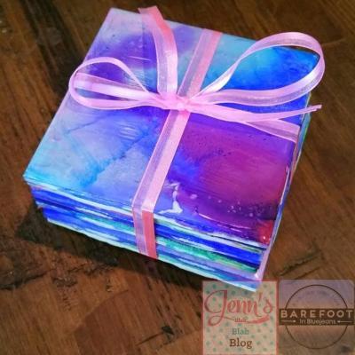 How To Make DIY Tie-Dye Coasters!