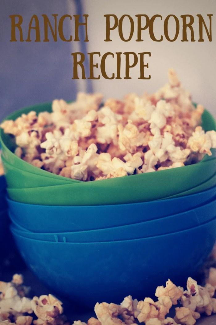 homemade ranch popcorn