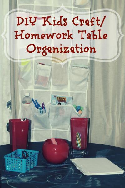 DIY Kids Work/Play Table Organization Project